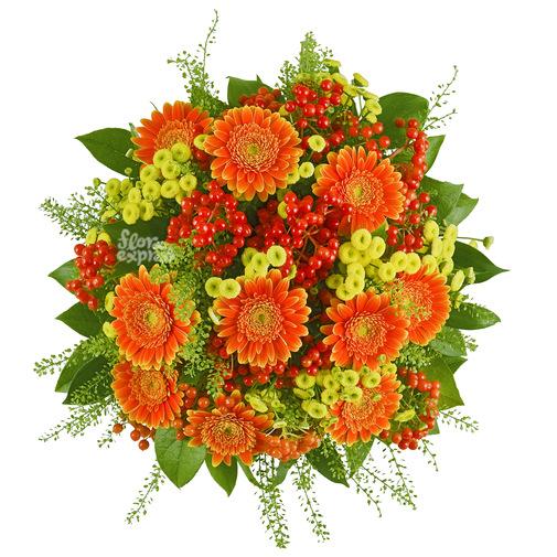 Оранжевый мир - изображение букета 2