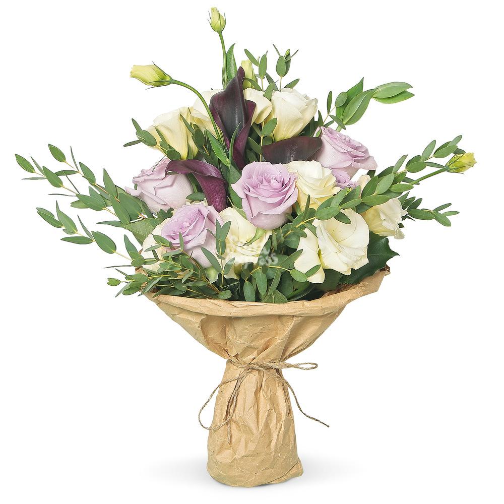 Букет «Flora Express» Розы и каллы фото
