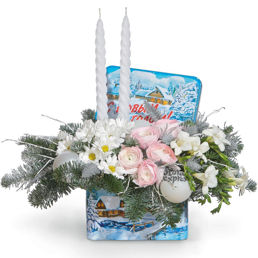 Букет «Flora Express», Новогодний натюрморт