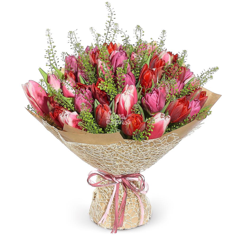 Букет «Flora Express», Большой букет тюльпанов