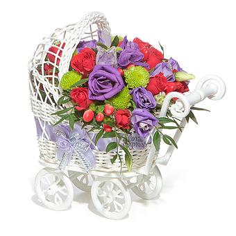 Букет БУКИ: Розы и лизиантус