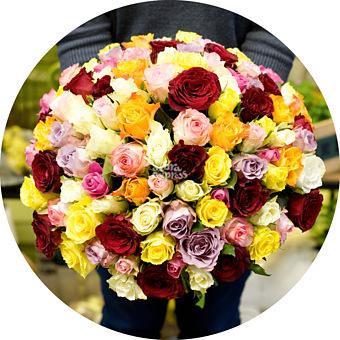 Букет Микс кенийских роз