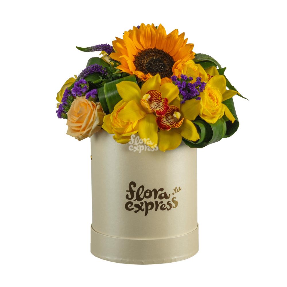 Букет «Flora Express», Бокс «Солнечный день»